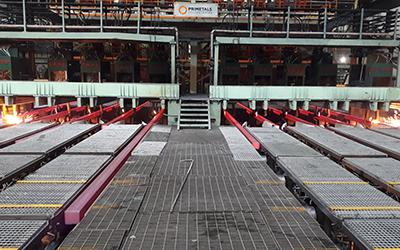 Zenith Steel nimmt Knüppelgießanlage mit SRD-Segmenten in Betrieb