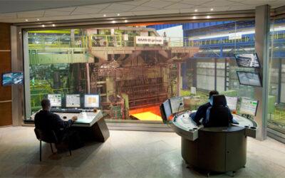 Faszination Technik: Leitstand in der Stahlindustrie