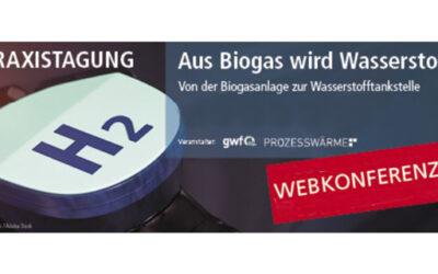Aus Biogas wird Wasserstoff: Webkonferenz überzeugt 200 Teilnehmer