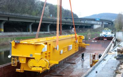 Saarstahl erhält neuen Roheisentransportkran für das LD-Stahlwerk