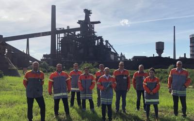 Grüner Stahl: Bundesfinanzminister Olaf Scholz besucht ArcelorMittal Bremen