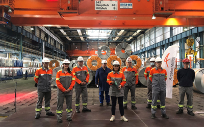 Annalena Baerbock besucht ArcelorMittal Eisenhüttenstadt